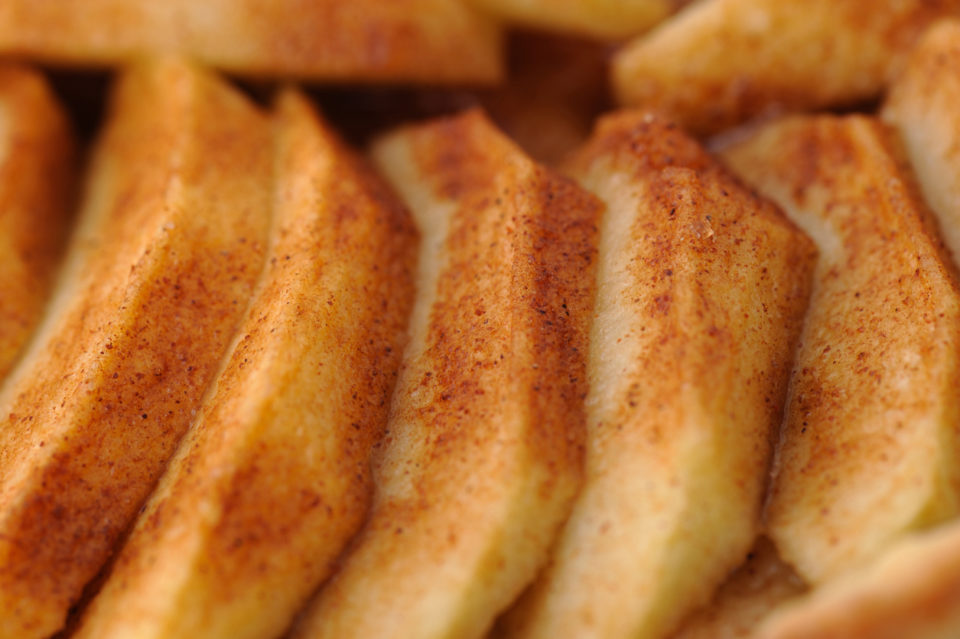 Cinnamon apples close-up